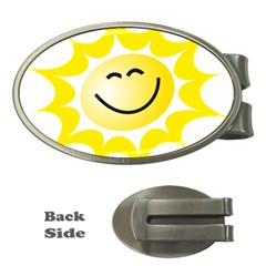 The Sun A Smile The Rays Yellow Money Clips (Oval)