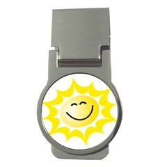 The Sun A Smile The Rays Yellow Money Clips (round)