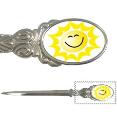 The Sun A Smile The Rays Yellow Letter Openers
