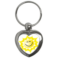 The Sun A Smile The Rays Yellow Key Chains (heart)