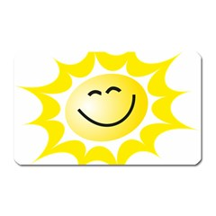 The Sun A Smile The Rays Yellow Magnet (rectangular)