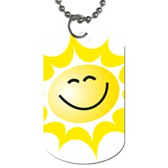 The Sun A Smile The Rays Yellow Dog Tag (One Side)
