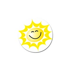 The Sun A Smile The Rays Yellow Golf Ball Marker