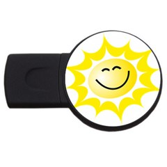 The Sun A Smile The Rays Yellow USB Flash Drive Round (1 GB)