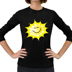 The Sun A Smile The Rays Yellow Women s Long Sleeve Dark T-Shirts