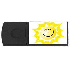 The Sun A Smile The Rays Yellow USB Flash Drive Rectangular (4 GB)