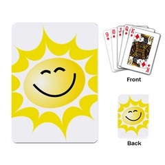 The Sun A Smile The Rays Yellow Playing Card