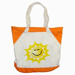 The Sun A Smile The Rays Yellow Accent Tote Bag