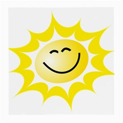 The Sun A Smile The Rays Yellow Medium Glasses Cloth