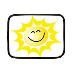 The Sun A Smile The Rays Yellow Netbook Case (Small)