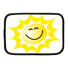 The Sun A Smile The Rays Yellow Netbook Case (medium)