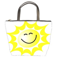 The Sun A Smile The Rays Yellow Bucket Bags