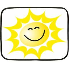 The Sun A Smile The Rays Yellow Fleece Blanket (mini)
