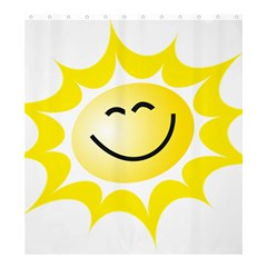 The Sun A Smile The Rays Yellow Shower Curtain 66  x 72  (Large)