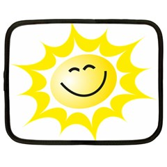 The Sun A Smile The Rays Yellow Netbook Case (XL)