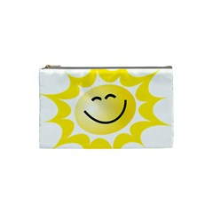 The Sun A Smile The Rays Yellow Cosmetic Bag (small)