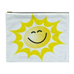 The Sun A Smile The Rays Yellow Cosmetic Bag (xl)