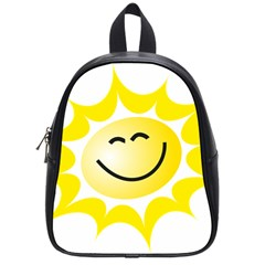 The Sun A Smile The Rays Yellow School Bags (small)