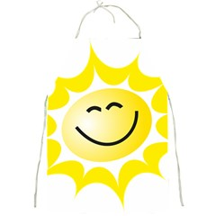 The Sun A Smile The Rays Yellow Full Print Aprons
