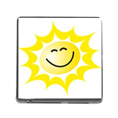 The Sun A Smile The Rays Yellow Memory Card Reader (square)