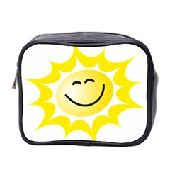 The Sun A Smile The Rays Yellow Mini Toiletries Bag 2 Side