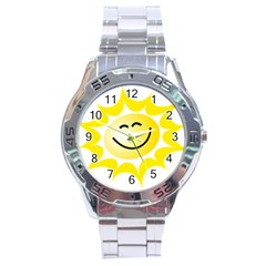 The Sun A Smile The Rays Yellow Stainless Steel Analogue Watch