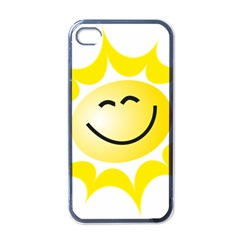 The Sun A Smile The Rays Yellow Apple iPhone 4 Case (Black)