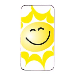The Sun A Smile The Rays Yellow Apple iPhone 4/4s Seamless Case (Black)