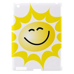The Sun A Smile The Rays Yellow Apple Ipad 3/4 Hardshell Case (compatible With Smart Cover)