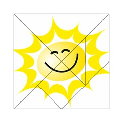 The Sun A Smile The Rays Yellow Acrylic Tangram Puzzle (6  x 6 )