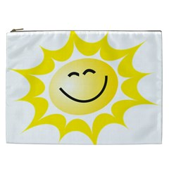 The Sun A Smile The Rays Yellow Cosmetic Bag (xxl)