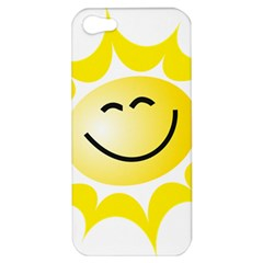 The Sun A Smile The Rays Yellow Apple iPhone 5 Hardshell Case