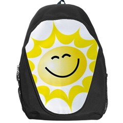 The Sun A Smile The Rays Yellow Backpack Bag