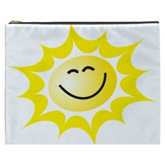 The Sun A Smile The Rays Yellow Cosmetic Bag (XXXL)