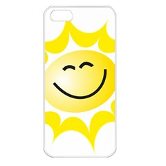 The Sun A Smile The Rays Yellow Apple iPhone 5 Seamless Case (White)