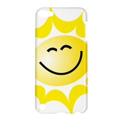 The Sun A Smile The Rays Yellow Apple iPod Touch 5 Hardshell Case