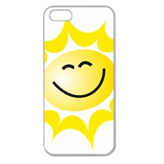 The Sun A Smile The Rays Yellow Apple Seamless iPhone 5 Case (Clear)