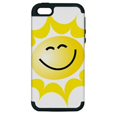 The Sun A Smile The Rays Yellow Apple Iphone 5 Hardshell Case (pc+silicone)