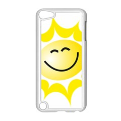 The Sun A Smile The Rays Yellow Apple iPod Touch 5 Case (White)