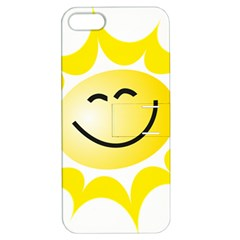 The Sun A Smile The Rays Yellow Apple iPhone 5 Hardshell Case with Stand