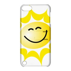 The Sun A Smile The Rays Yellow Apple iPod Touch 5 Hardshell Case with Stand