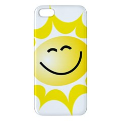 The Sun A Smile The Rays Yellow Apple Iphone 5 Premium Hardshell Case