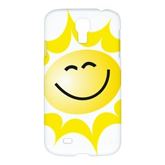 The Sun A Smile The Rays Yellow Samsung Galaxy S4 I9500/I9505 Hardshell Case