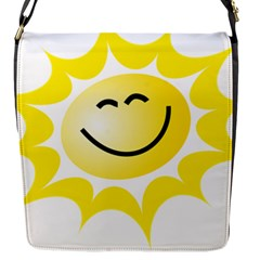 The Sun A Smile The Rays Yellow Flap Messenger Bag (S)