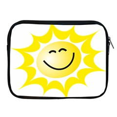 The Sun A Smile The Rays Yellow Apple iPad 2/3/4 Zipper Cases