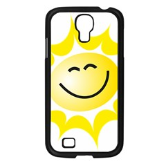 The Sun A Smile The Rays Yellow Samsung Galaxy S4 I9500/ I9505 Case (black)