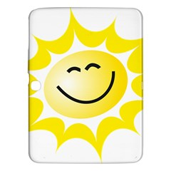 The Sun A Smile The Rays Yellow Samsung Galaxy Tab 3 (10.1 ) P5200 Hardshell Case