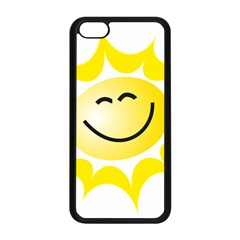 The Sun A Smile The Rays Yellow Apple iPhone 5C Seamless Case (Black)