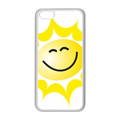 The Sun A Smile The Rays Yellow Apple iPhone 5C Seamless Case (White)