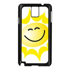 The Sun A Smile The Rays Yellow Samsung Galaxy Note 3 N9005 Case (Black)